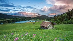 Hintergrundbilder Landschaftsfotografie Grünland Gebirge Gras Alpen Natur