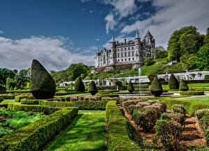 Images Scotland Castles Gardens Shrubs Design Dunrobin Castle Golspie Cities