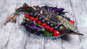 Wallpaper Seafoods Fish - Food Vegetables Olive Tomatoes Boards Food