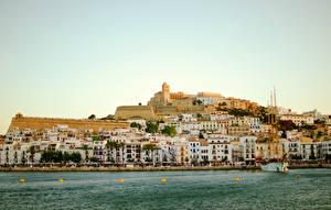 Bilder Spanien Gebäude Meer Bootssteg Ibiza Städte