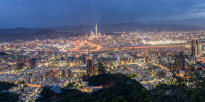 Bilder Taiwan Gebäude Abend Megalopolis Taipei