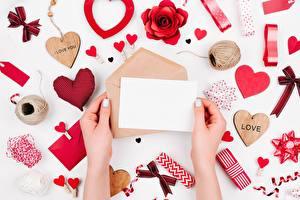 Bilder Valentinstag Brief Hand Herz Vorlage Grußkarte Briefumschlag