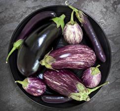 Fotos Gemüse Aubergine Teller