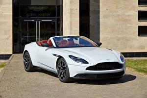 Wallpaper Aston Martin White Cabriolet Metallic 2018 DB11 V8 Volante Henley Royal Regatta auto