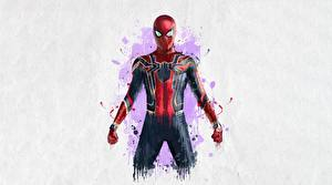 Pictures Avengers: Infinity War Spiderman hero Painting Art Movies