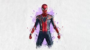 Pictures Avengers: Infinity War Spiderman hero Painting Art Movies