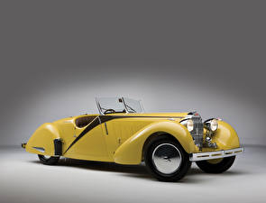 Images BUGATTI Retro Yellow Convertible Metallic 1935 Type 57 Roadster by Worblaufen auto