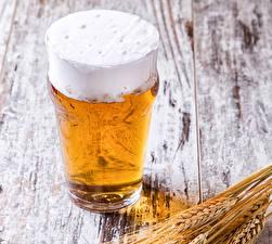 Bilder Bier Bretter Ähre Trinkglas Schaum Lebensmittel