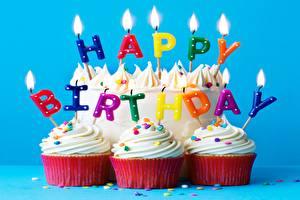 Bilder Geburtstag Cupcake Kerzen Wort Lebensmittel