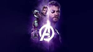 Hintergrundbilder Chris Pratt Chris Hemsworth Avengers: Infinity War Augenklappe Schwarzer Hintergrund Film Prominente