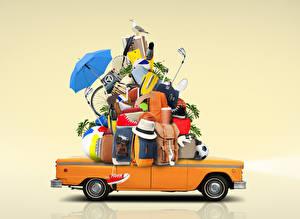 Hintergrundbilder Farbigen hintergrund Koffer Der Hut Regenschirm Tourismus