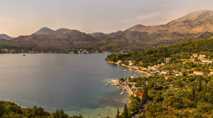 Pictures Croatia Houses Coast Dubrovnik Bay