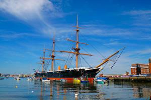 Fotos England Bootssteg Schiffe Segeln Portsea Portsmouth Städte