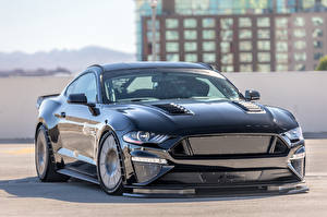 Images Ford Metallic Black 2017 Tucci Mustang Fastback Cars