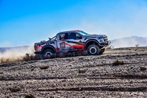 Hintergrundbilder Ford Tuning Pick-up Seitlich 2017 F-150 Raptor Race Truck