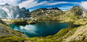 Fotos Frankreich See Gebirge Landschaftsfotografie Alpen Laubmoose Lac Robert Belledonne