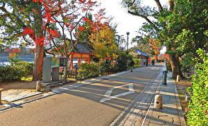デスクトップの壁紙、、日本、京都市、建物、道、ストリート、都市