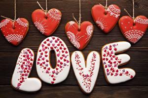 Sfondi desktop Amore Biscotti Festa di san Valentino Cuore