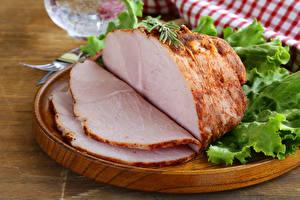 Hintergrundbilder Fleischwaren Schinken Geschnitten Lebensmittel