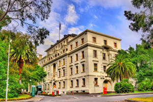 Fondos de escritorio Melbourne Australia Edificio Calle Arecaceae Commonwealth Parliamentary Offices