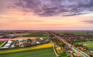 Hintergrundbilder Niederlande Haus Felder Flusse Himmel Dorf Schagerbrug Städte