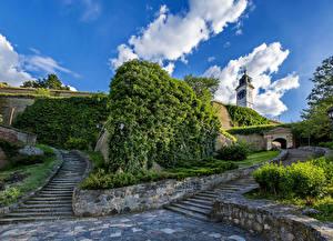 Images Serbia Stairs Novi Sad Cities