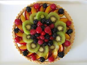 Bilder Backware Obstkuchen Obst Heidelbeeren Chinesische Stachelbeere Himbeeren Design
