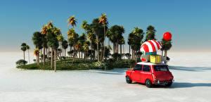 Fotos Resort Küste Palmengewächse Regenschirm 3D-Grafik