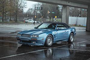 Photo Retro Aston Martin Light Blue Metallic 1993 Virage Volante auto