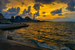 Hintergrundbilder Russland Krim Abend Meer Haus Himmel Sevastopol Städte
