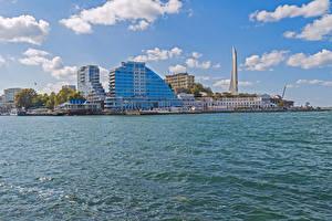 Wallpaper Russia Crimea Building Marinas Bay Sevastopol Cities
