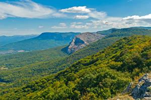Hintergrundbilder Russland Krim Landschaftsfotografie Gebirge Wälder