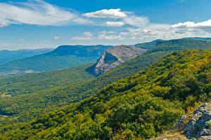 Hintergrundbilder Russland Krim Landschaftsfotografie Gebirge Wälder Natur