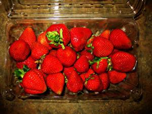 Hintergrundbilder Erdbeeren Hautnah das Essen