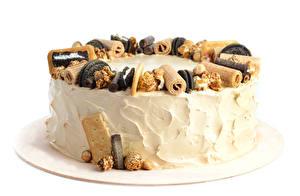 Hintergrundbilder Süßware Torte Weißer hintergrund Design