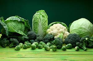 Fotos Gemüse Kohl Grün