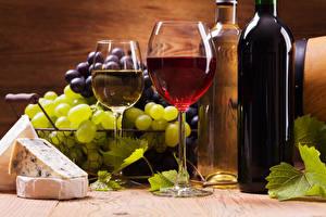 Bilder Wein Weintraube Käse Weinglas Flaschen das Essen