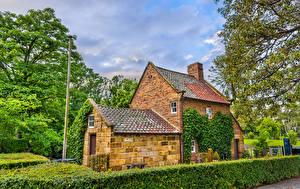 Fondos de escritorio Australia Melbourne Parque Mansión Diseño Arbusto Captain Cook Cottage in Fitzroy Garden