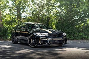 Bilder BMW Schwarz Metallisch 2018 Manhart Racing MH5 700 M5 Autos