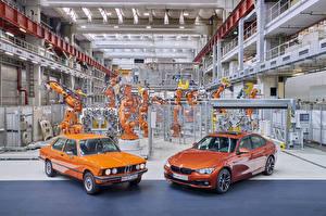 Bilder BMW Retro 2 Metallisch Orange 1975-2017 Serie 3 Autos
