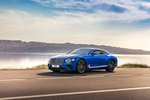 Wallpaper Bentley Blue 2017 Continental GT Worldwide automobile
