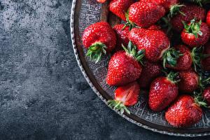 Fotos Beere Erdbeeren Nahaufnahme das Essen