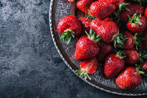 Fotos Beere Erdbeeren Großansicht Lebensmittel