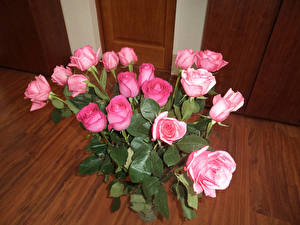 Images Bouquets Roses Pink color Flowers