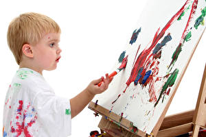 Bilder Jungen Pinsel Blatt Papier Kind Kinder