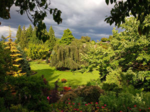 Hintergrundbilder Kanada Park Design Strauch Bäume Rasen Queen Elizabeth Park Natur