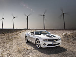 Photo Chevrolet White Cabriolet 2011-13 Camaro Convertible Cars