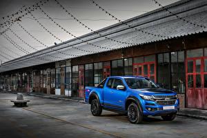 Bilder Chevrolet Pick-up Blau 2018 Colorado  Centennial XCab TH-spec