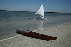 Fotos Küste Boot Segeln Natur