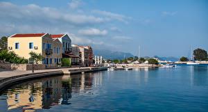 Fotos Griechenland Gebäude Schiffsanleger Bucht Kastelorizo Aegean Städte